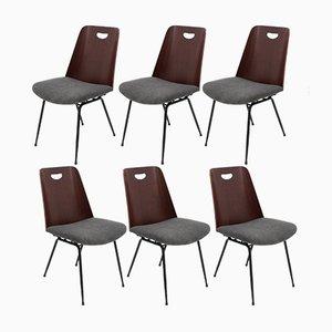 Esszimmerstühle von Gastone Rinaldi für Rima, 1950er, 6er Set