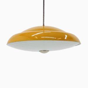 Lampe à Suspension Jaune, années 60