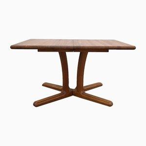 Extendable Danish Teak Dining Table, 1980s