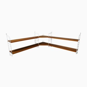 Corner Shelf by Kajsa & Nils ''Nisse'' Strinning for String, 1950s
