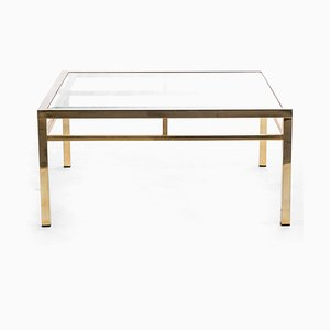 Vintage Brass Square Coffee Table