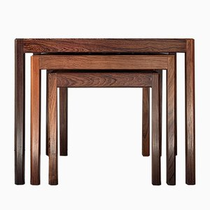Mid-Century Danish Rosewood and Teak Nesting Tables, 1960s