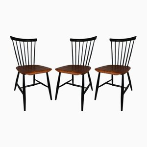 Dining Chairs by Sven Erik Fryklund for Hagafors, 1950s, Set of 3