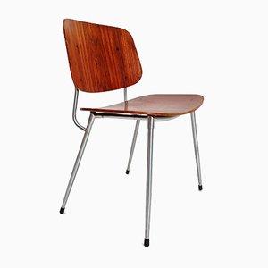 Danish Plywood and Steel Dining Chair by Børge Mogensen for Søborg Møbelfabrik, 1950s