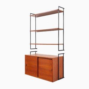 Teak Modular Wall Shelf, 1960s