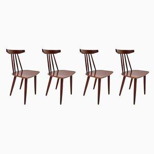 Dänische Modell 307 Esszimmerstühle aus Teak von Poul Volther für Frem Røjle, 1960er, 4er Set