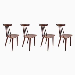Danish Model 307 Teak Dining Chairs by Poul Volther for Frem Røjle, 1960s, Set of 4
