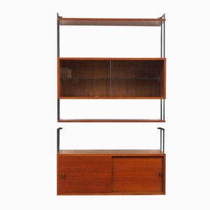 Wall Shelf with Glass Cabinet, 1960s