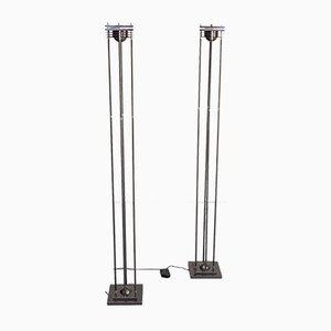 Dimmable Halogen Floor Lamps, 1980s, Set of 2