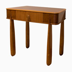 Nachttisch aus Holz von Paolo Buffa für La Permanente Mobili Cantù, 1950er