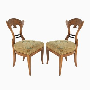 Antique Biedermeier Dining Chairs, Set of 2