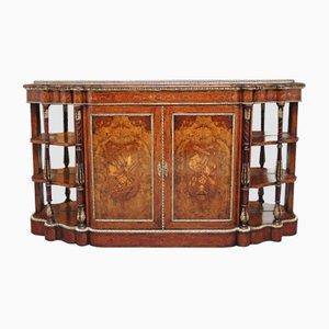 19th Century Burl Walnut Cabinet