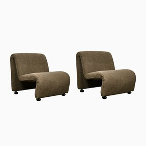 Vintage Lounge Chairs by Étienne Fermigier, 1970s, Set of 2