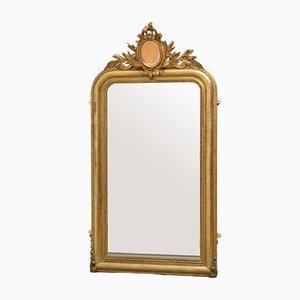 Wandspiegel mit vergoldetem Holzrahmen, 19. Jh.