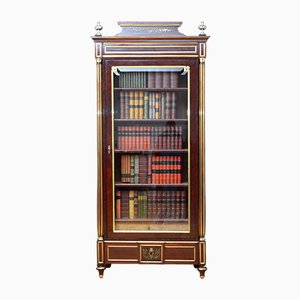 Antikes französisches Bücherregal aus Mahagoni
