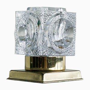 Tischlampe in Eiswürfel-Optik von Peill & Putzler, 1970er