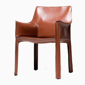 Leather Dining Chair by Mario Bellini for Cassina, 1980s