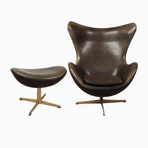 3316 Sessel & Hocker Set von Arne Jacobsen für Fritz Hansen, 2008