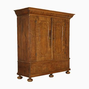 Antique German Walnut Wardrobe