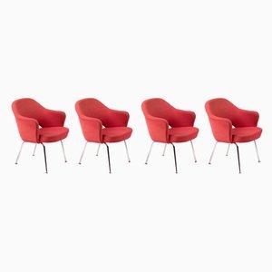 Chaises de Salle à Manger par Eero Saarinen pour Knoll Inc. / Knoll International, années 50, Set de 4
