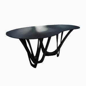 G-Table B & C mit geformtem Gestell aus poliertem Edelstahl von Zieta