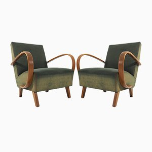 Art Deco Lounge Chairs by Jindřich Halabala, 1950s, Set of 2