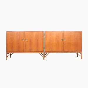 Mid-Century Danish Oak Cabinets by Børge Mogensen for FDB, 1950s, Set of 2