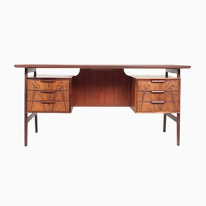 Mid-Century Danish Rosewood Desk from Omann Jun, 1960s