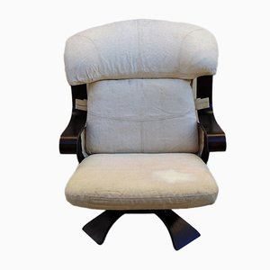 Mid-Century Rosewood Swivel Lounge Chair, 1970s