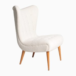Mid-Century Swedish Bouclé Lounge Chair by Elias Svedberg, 1950s
