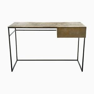 Brass-Plated Desk by Pols Potten Studio