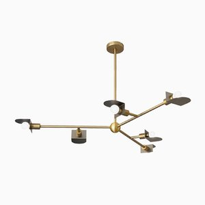 Brass Route II Chandelier by Square In Circle