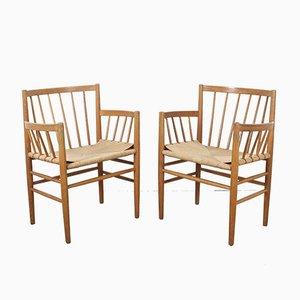 Danish Oak Model J81 Dining Chairs by Jørgen Bækmark for FDB, 1960s, Set of 2