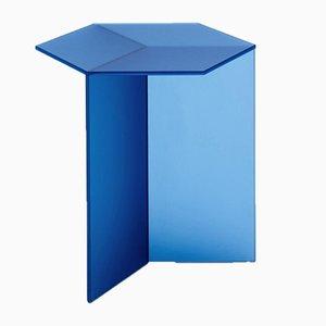 Mesa de centro Isom alta de vidrio satinado de Sebastian Scherer