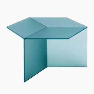 Satin Glass Isom Tall Coffee Table by Sebastian Scherer