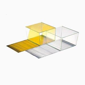 Table Basse Rho Oblong 35 en Verre par Sebastian Scherer