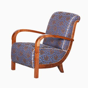 Art Deco Fabric Armchair, 1920s