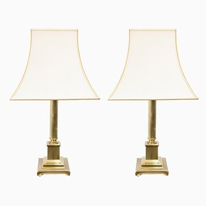 Brass Table Lamps from Herda, 1970s, Set of 2