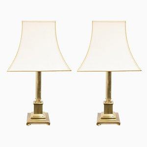 Lampade da tavolo in ottone di Herda, anni '70, set di 2