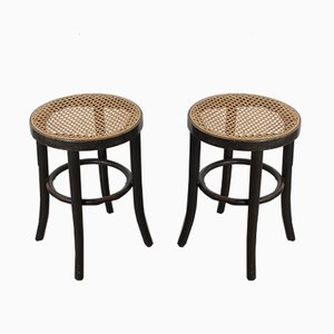 Vintage Austrian Bentwood Stools from Thonet, 1950s, Set of 2