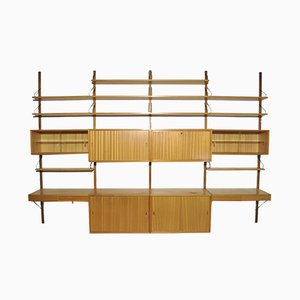Oak Modular Wall Unit by Poul Cadovius for Cado, 1960s