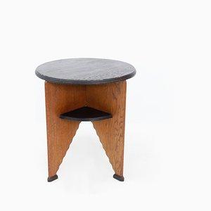 Tavolino Art Deco in quercia, Paesi Bassi, anni '20