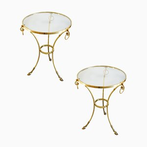 Brass and Glass Coffee Tables from Orlandi Italia, 1970s, Set of 2