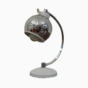 Italian Chromed and Enameled Steel Table Lamp, 1960s