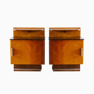 Nightstands by Jindřich Halabala for UP Závody, 1930s, Set of 2