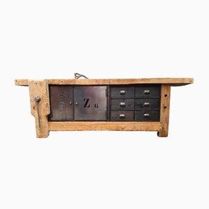 Industrielles Vintage Sideboard aus Metall & Holz, 1970er