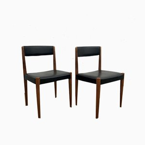 Danish Dining Chairs by Aage Schmidt Christensen for Fritz Hansen, 1950s, Set of 2