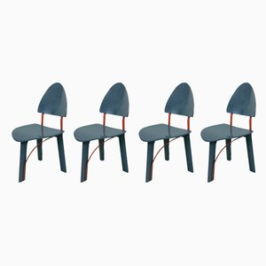 Dining Chairs from Pozzi, 1980s, Set of 4