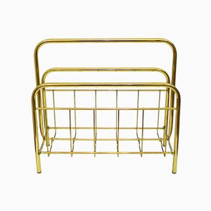 Golden Metal Magazine Rack, 1970s