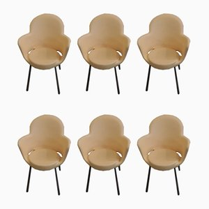 Vintage Italian Model Gogo Basic Stacking Chairs by Marcello Ziliani for Sintesi, 1980s, Set of 6